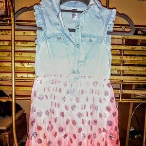 Dresses - Justice Sleeveless Denim and Tully Girls Dress